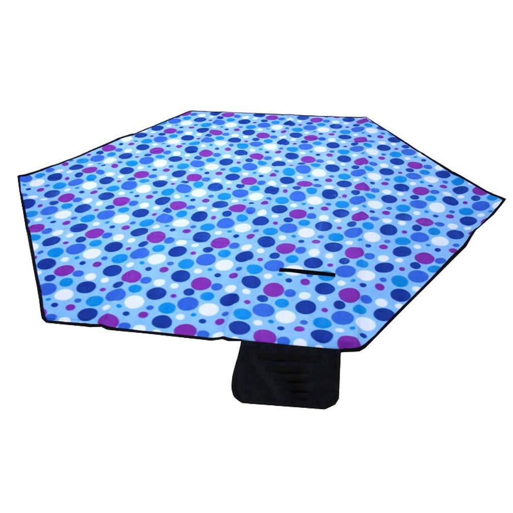 DMGF Hexagonal Picnic Blanket Tent Mat Waterproof Sandproof Tote Mat Machine Washable Portable Rug for Camping Beaches Outings Hiking 94.4'' 94.4'',Blue
