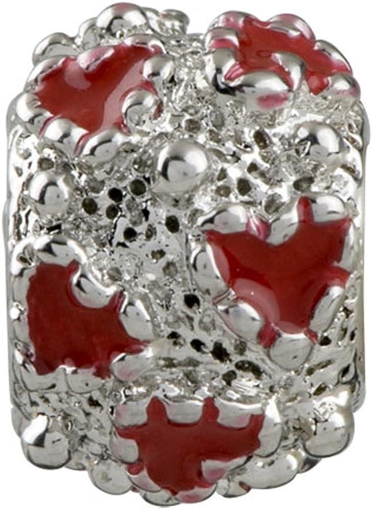 Korliya c/œurs rouges Amour Perle charm pour bracelet