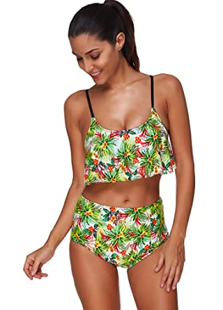 51ce483fa0c4a Image Unavailable. Image not available for. Color  Suzicca Women Swimwear  Floral Print Backless ...