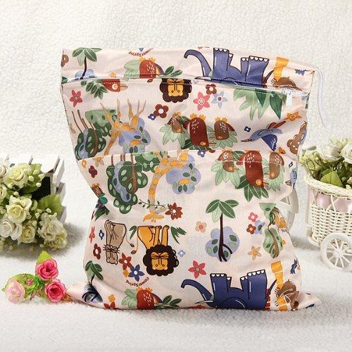 LSV 8Zip Waterproof Reusable Baby Cloth Diaper Wet Dry Bag, Carry Bag Lsv-8