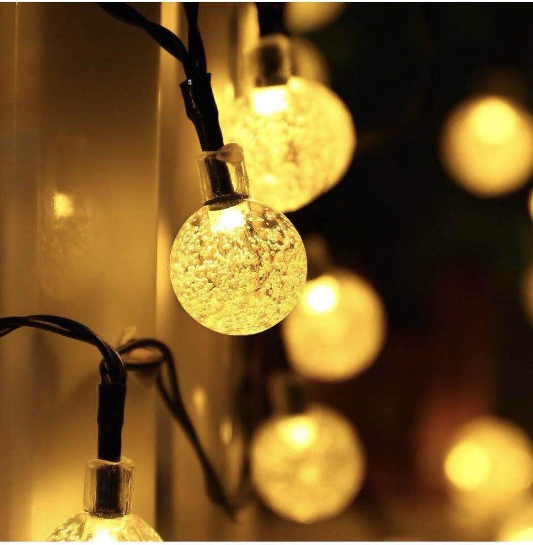 Amazon Com Garden Solar Lights 50 Led Outdoor String Lights Garden Crystal Ball Decorative Lights 24ft Waterproof Indoor Outdoor Fairy Lights For Garden Patio Yard Christmas Home Improvement