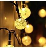 Upoom Garden Solar Lights, 50 LED Outdoor String Lights Garden Crystal Ball Decorative Lights 24Ft Waterproof Indoor…