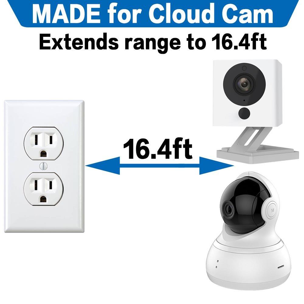 Quarble - Cable alargador USB de 4 m para WyzeCam, Yi Cámara, Oculus Go, Echo Dot Kid Edition, Nest Cam, Netvue, Furbo Dog y otras cámaras de seguridad para ...