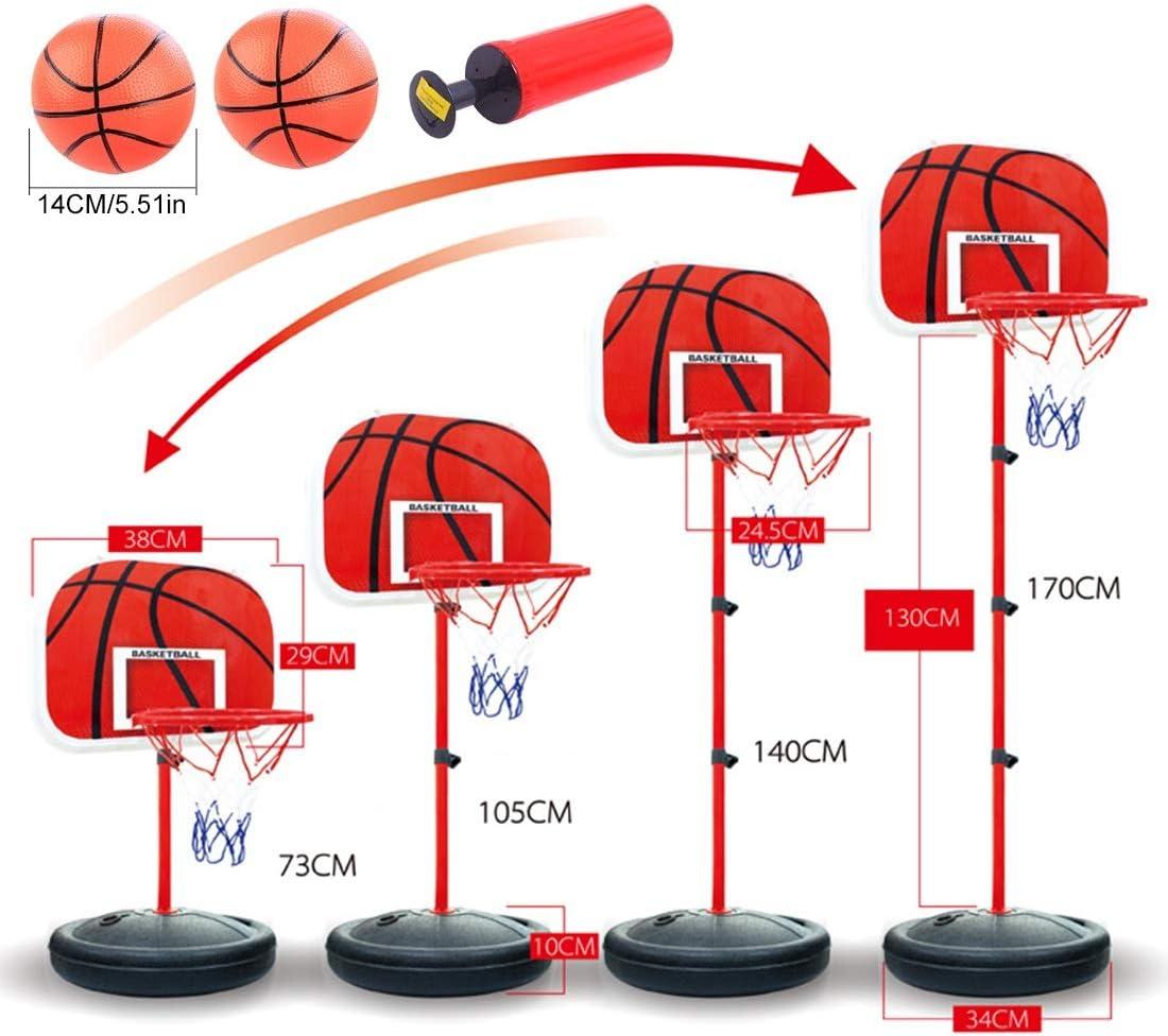 Mecotech Canasta Baloncesto Infantil 73-170cm Ajustable Portátil ...