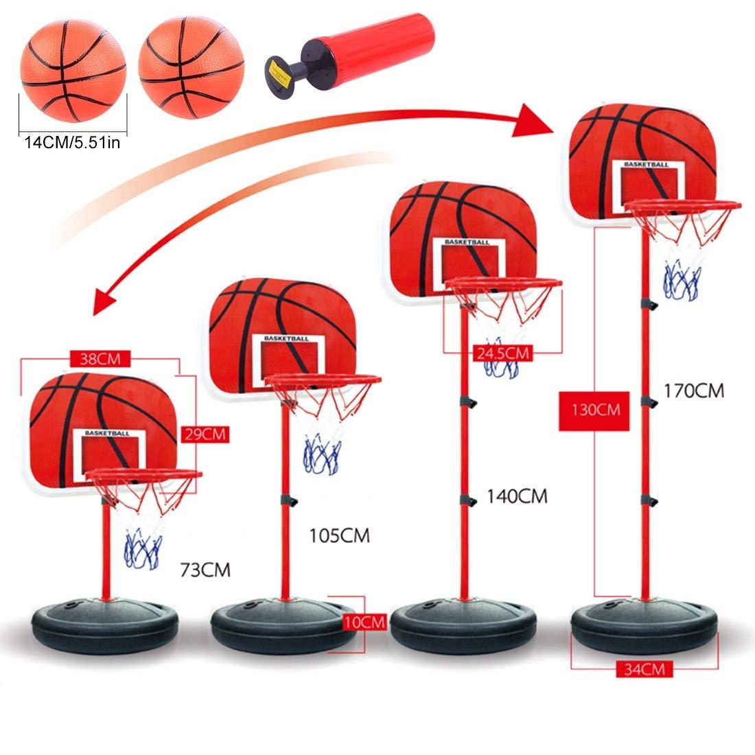 Mecotech Canasta Baloncesto Infantil 73-170cm Ajustable ...