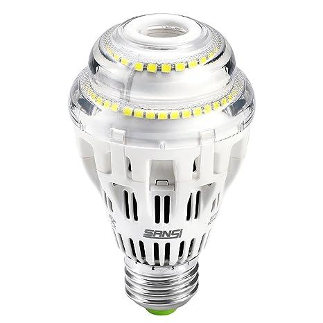 Bombillas LED, Sansi 17 W regulable A19/E26 bombilla de luz – luz de