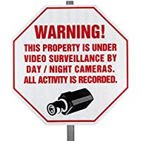 Reflective CCTV Security Surveillance Warning Sign