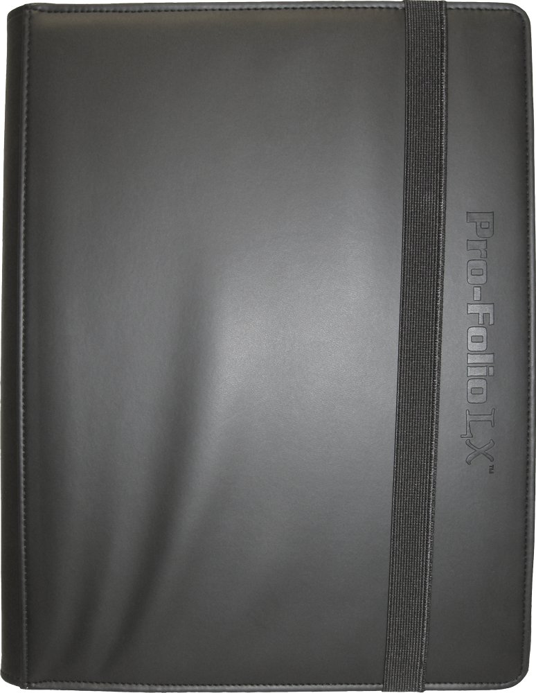 (6) Black Trading Card Binders - BCW Brand - 9-Pocket Pro-Folio - LX - #BCW-PF9LX-BLK