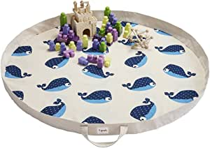 3 Sprouts Play Mat - Whale, Blue