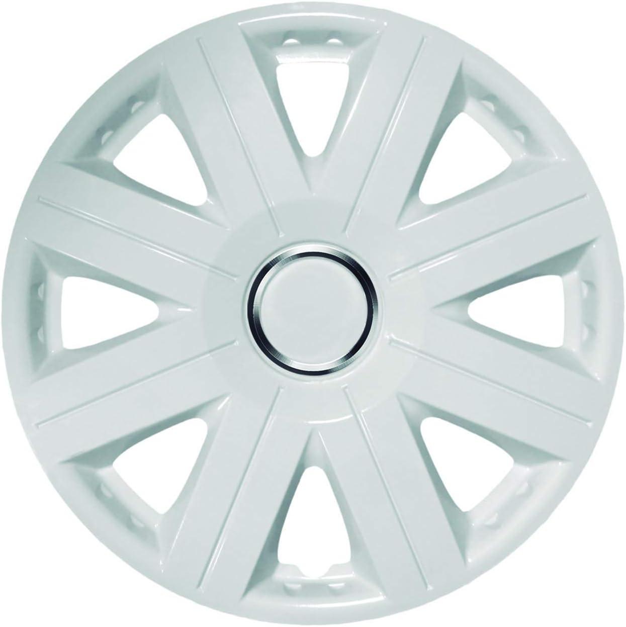 para Llanta 16 1102.0000479 Juego de 4 Tapacubos KRAWEHL Modelo Cosmos Ref Color Blanco AZ