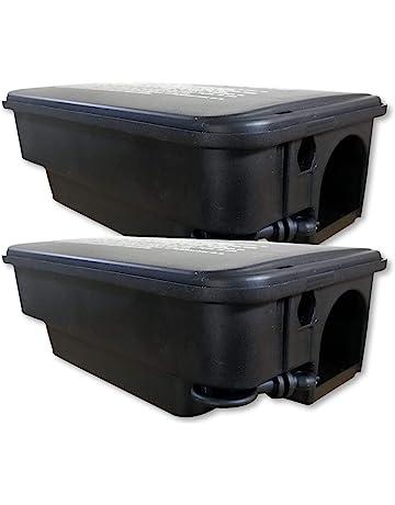 Juego de 2 cajas de cebo ratas gruesos para para exteriores de Pest Expert.