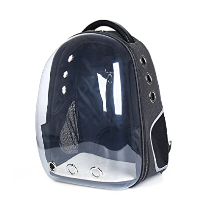 Lemonda Creative Transparent Pet Backpack Carrier Breathable Capsule  Traveler Airline Approved for Cats and Dogs ( 44c6bd7ad1