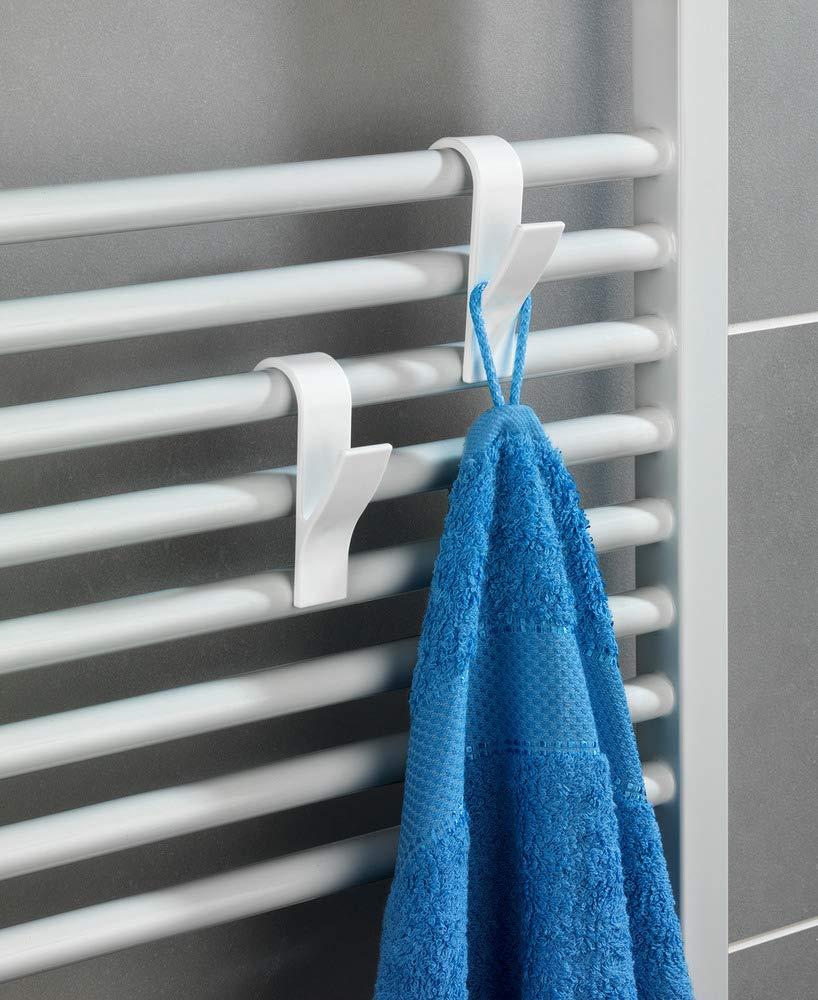 Wenko – Ganchos para radiador, 6 unidades, color blanco
