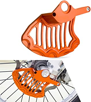 QYA Freno de Disco Delantero Gaurd Protector for KTM 200 250 125 150 300 350 400 450 525 530 EXC EXCF 2003 2004 2005 2006 a 2013 2014 2015 Material Resistente Color : Black and Blue
