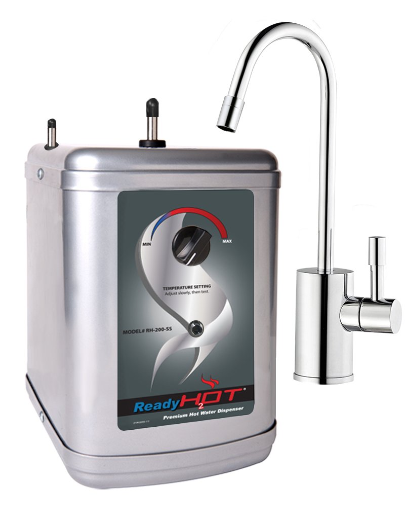Ready Hot RH-200-F570-CH Stainless Steel Hot Water Dispenser System, Includes Chrome Single Lever Faucet by Ready Hot