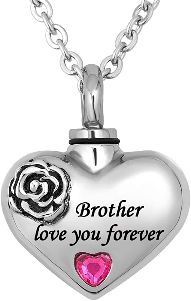 CharmSStory Grandma Love You Forever Urn Cremation Necklaces for Ashes Jewelry