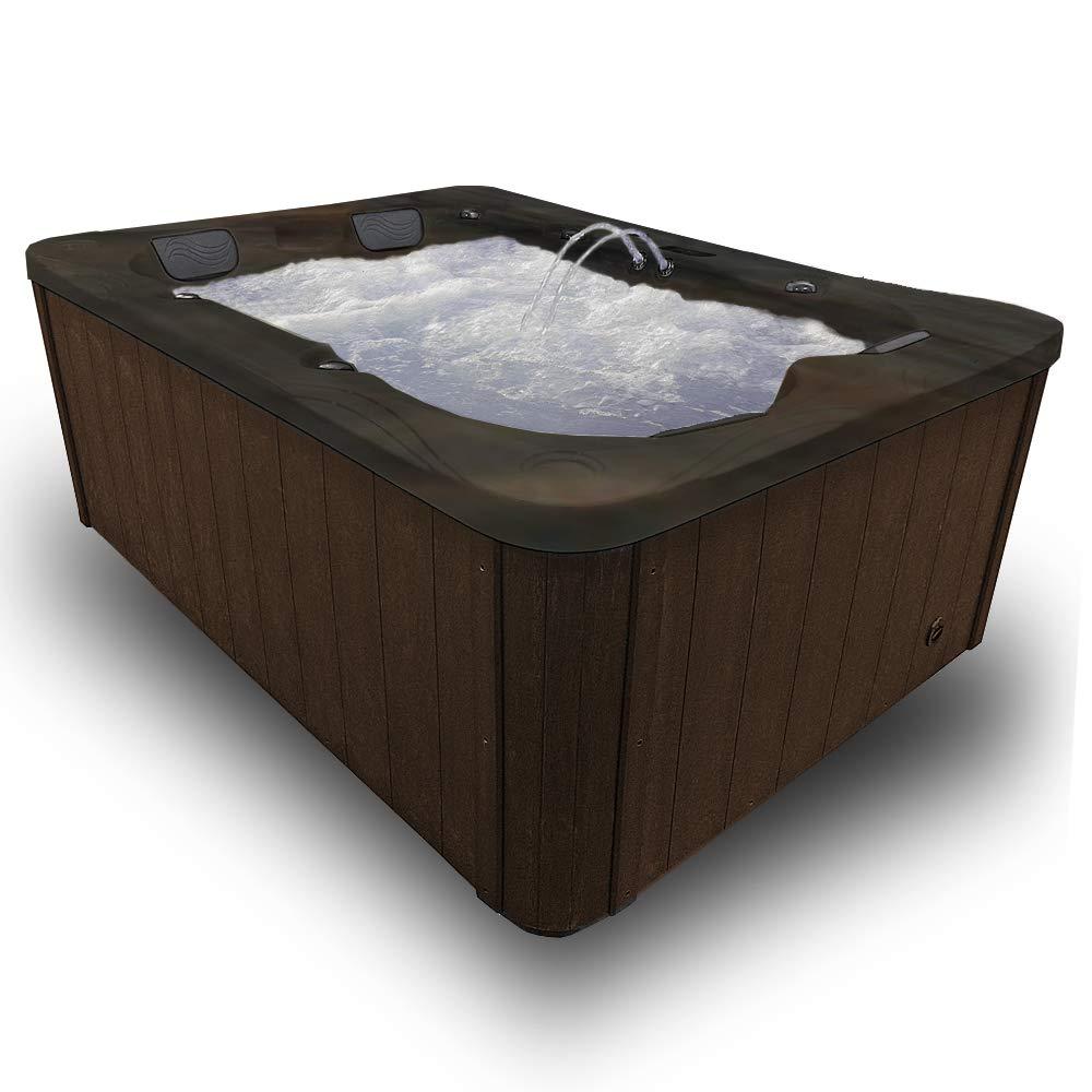 Amazon.com: Tubos de agua de 4 asientos, 28 chorros de acero ...
