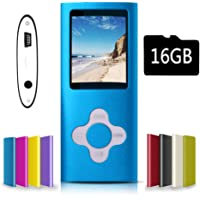 G.G.Martinsen Blue Versatile MP3/MP4 Player with a Micro SD Card, Support Photo Viewer, Mini USB Port 1.8 LCD, Digital MP3 Player, MP4 Player, Video/Media/Music Player