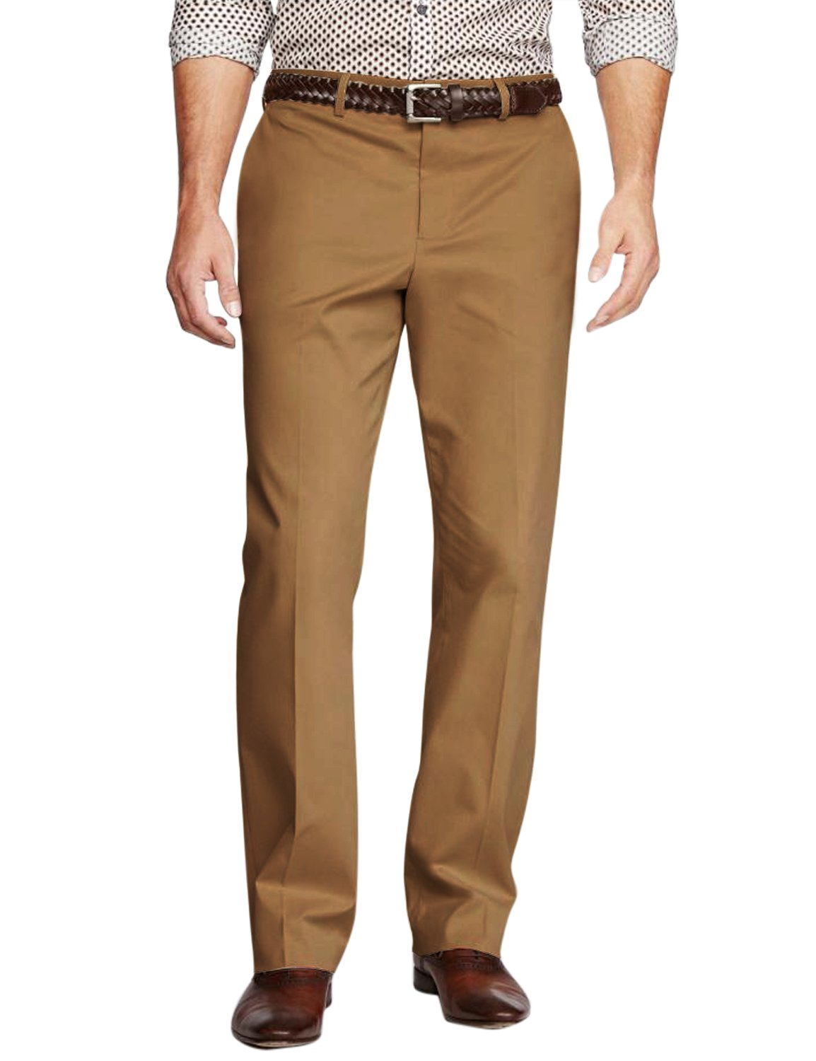 Match Men's Straight-Fit Casual Pants M3(32W x 31L, 8130 Khaki) by Match