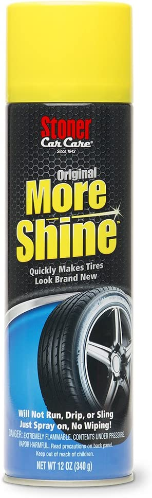 Stoner Car Care 91044 12-Ounce More Shine Original Tire Dressing Spray for Tire and Wheel Care and Long Lasting Tire Shine Rain Resistant Make Faded Tires Look New, Pack of 1: Automotive