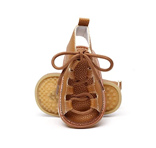 b038dd00852 Isbasic Baby Boys Girls Summer Lace Up Shoes Roman Sandals