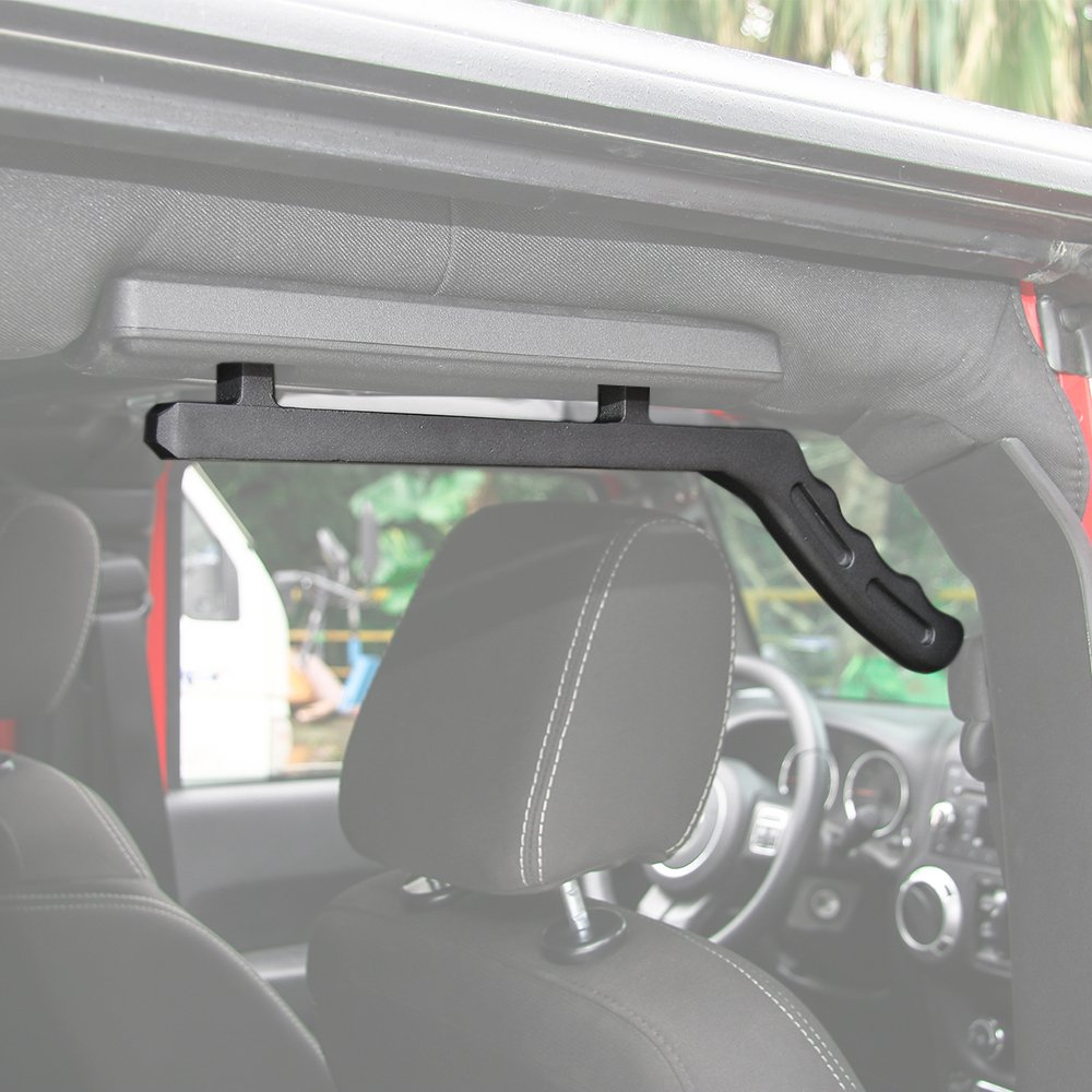 RT-TCZ Aluminum Grab Handle for Jeep Wrangler JK 2007-2017 (Rear Handle, Black) by RT-TCZ