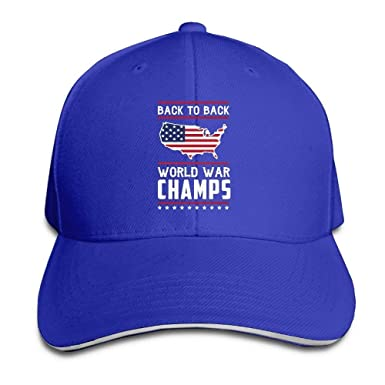 Amazon.com  Women s Men s Back-to-Back World War Champs Adult Adjustable Snapback  Hats Sandwich Cap C8  Clothing 1d810514b82