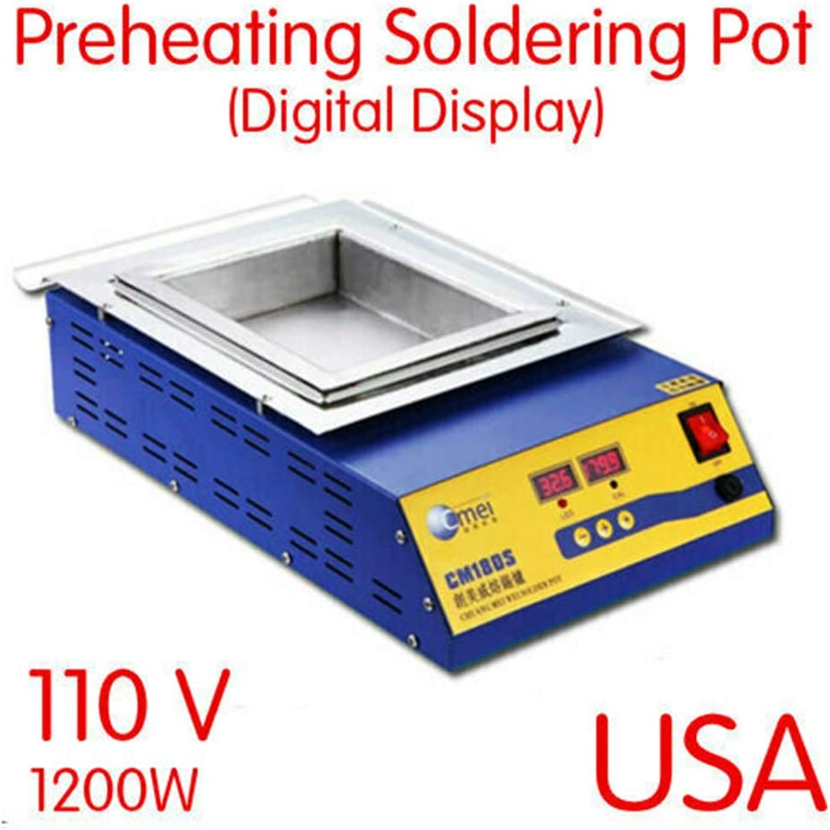 900W Preheat Preheating Soldering Pot Microcomputer digital control 0°C-400°C