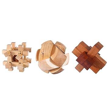 Puzzle Madera Fokom 3 Pack Puzzles 3d Juegos De Ingenio Juegos De