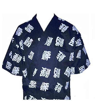 Amazon.com: Carta Impreso Sushi Chef Uniforme Azul Cuello ...