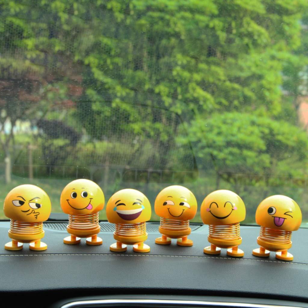 YUYUE21 Adornos para el autom/óvil Emoji Shaker Sonrisa Sacudiendo la Cabeza Mu/ñeca de Juguete Lindo Auto Interior Accesorios de decoraci/ón de Coches
