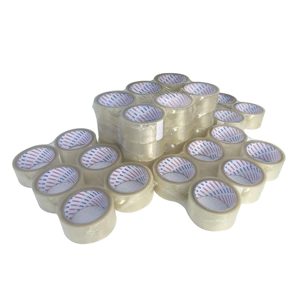 Pack of America 36 Rolls Clear Packing and Shipping Tape 55 Yards 2'' 1.8 Mil Economical Adhesive Tapes for Moving Boxes, Carton Sealing, Home & Office Mailing, Commercial Warehouse Depot by Pack of America (Image #5)