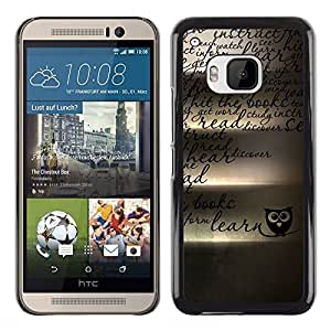 FU-Orionis Colorful Printed Hard Protective Back Case Cover Shell Skin for HTC One M9 - Mysterious Owl - Japanese Tattoo