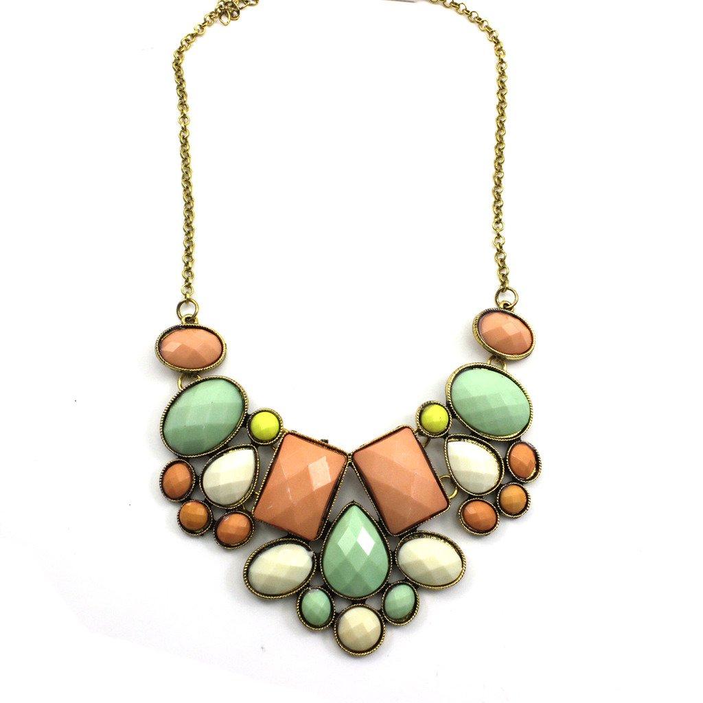 Geometric Gem Fashion Necklace...
