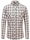 Best Man Buttons - JEETOO Men's Flannel Plaid Checkerd Long Sleeve Button Review