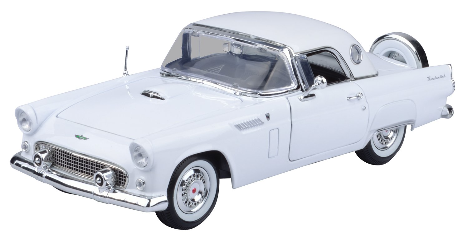 Motormax 1:18 Die-Cast 1956 Ford Thunderbird With Hard Top (Colors May Vary)