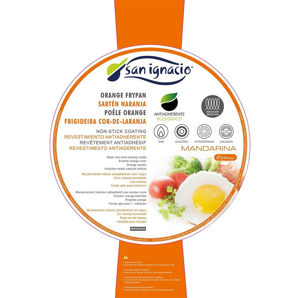 San Ignacio SARTEN 18cm 1.2mm Antiadherente Mandarina, Acero, Naranja, 18 Centimeters: Amazon.es: Hogar