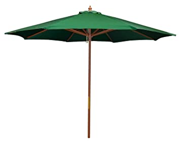 Bayside21 9u0027 Wood Market Umbrella   Hunter Green