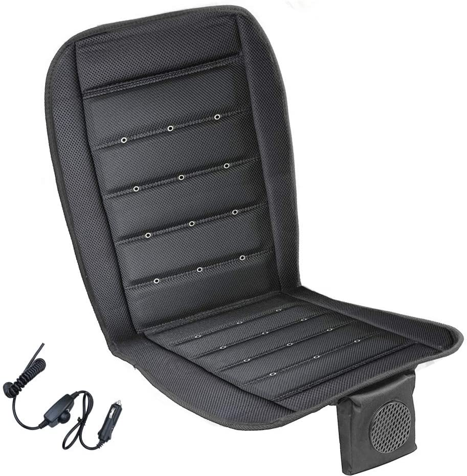 Saihisday Car Seat Cooling Cushion 12V Automotive Adjustable Temperature Black