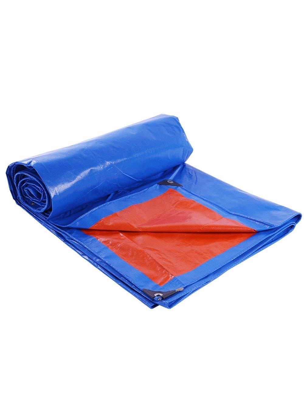 Blaues Rotes Wasserdichtes Planen-Zelt-kampierendes Segeltuch-Tarp-Überdachung im Freien