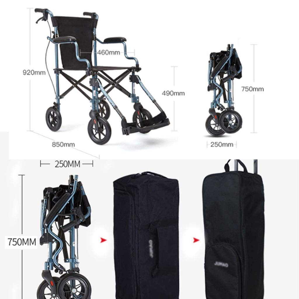 Table Lamps Wheelchair Portable Wheelchair for The Elderly Travel Folding Chair Wheelchair for The Disabled Multi-Function Trolley Outdoor Aluminum Alloy Wheelchair Weight 100kg
