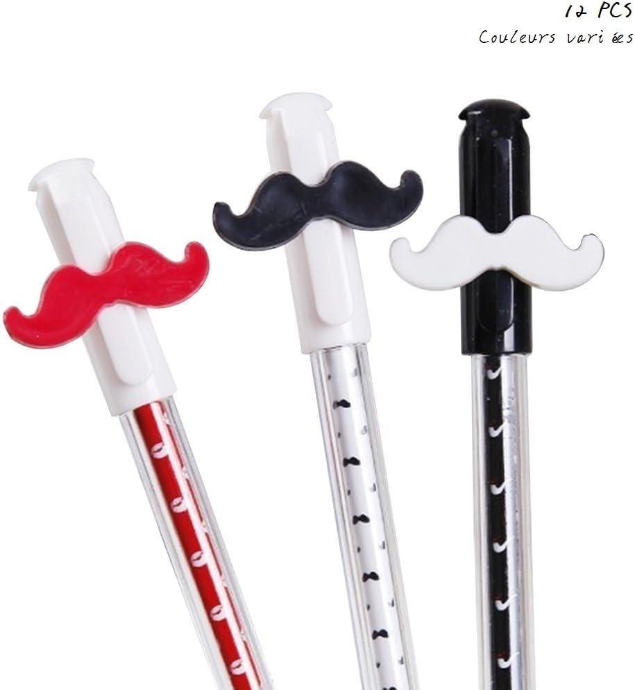 Cdet 12PCS Moustache Stylo Gel Couleurs vari/ées Crayons Stylo /à Bille Stylos Stylo Gel Bricolage Cadeaux /étudiants Cadeau Enfant pour l/écriture de Dessin 0.38mm