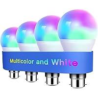 Alexa Light Bulbs WiFi Smart Bulbs B22 Bayonet [4 Pack] Compatible with Echo Alexa Google Home Dimmable Warm Light and…
