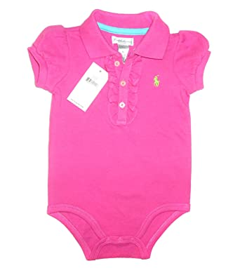 4c40f559a4b1 NEW Genuine RALPH LAUREN Baby Girls Romper Onesie Bodysuit - Resort Rose (6  Months)