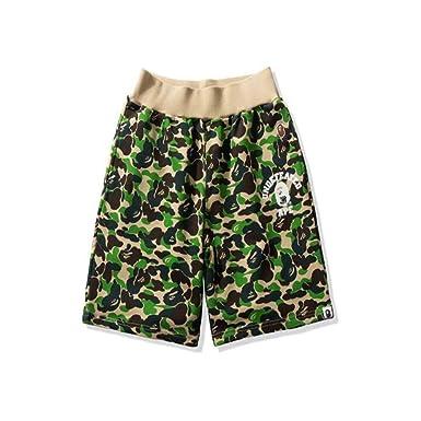 18196321 Mulynn Men's Bape Summer Camo Printed Cotton Casual Shorts at Amazon Men's  Clothing store: