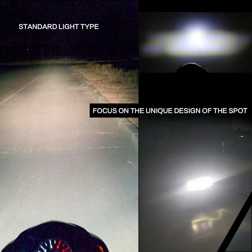 Pack of 2 RTD 20W Super Bright CREE LED Spotlight Headlight Work Light Driving Fog Spot Lamp Motorcycle Headlamp for Motorcycle ATV Harley Jeep Wrangler Honda Suzuki Yamaha