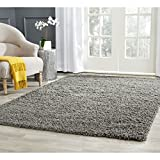 Safavieh Athens Shag Collection SGA119C Dark Grey Area Rug, 8 feet by 10...