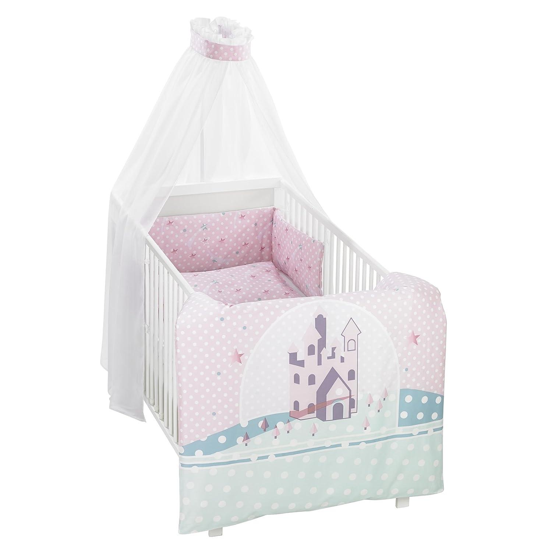 Alvi Bettwäsche 100x135 cm für Kinderbett Sternenschloss rosa 813-2  NEU