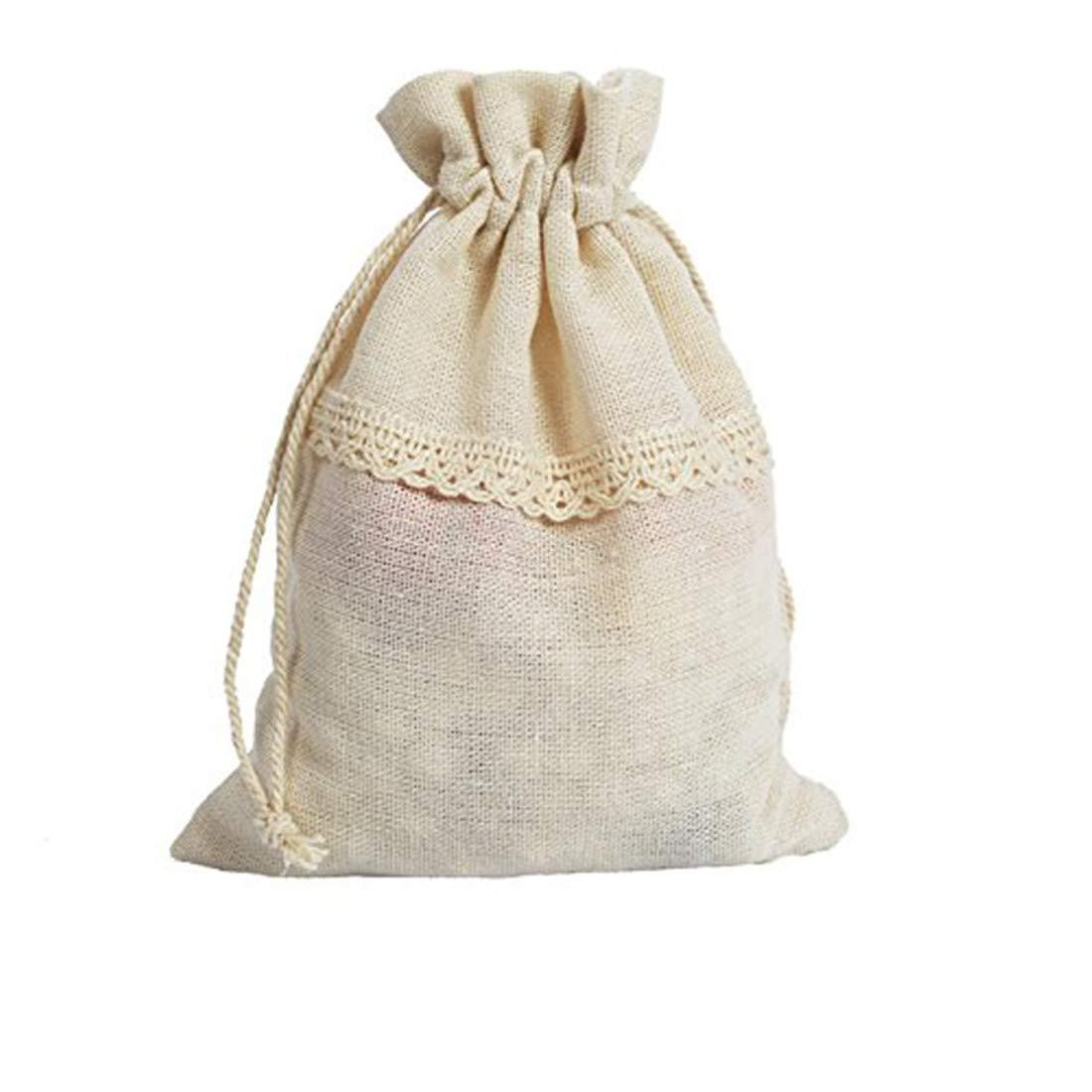 Baumwoll-Geschenksaeckchen Lace Beutelchen Hochzeit Beutel Samtbeutel 25 Stueck ZWD LB001DC7