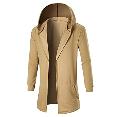 Herren Mäntel,FRIENDGG Männer Herbst Winter Lässige Strickjacke Mit Kapuze  Sweatshirt Mode Hübsche Tägliche Jacke cbb675eb3f